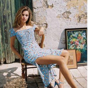 Faithfull the Brand Castilo Midi Dress NWT